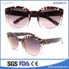 Form-Schildkröten-Farben-Plastiksonnenbrillen mit rundem Rahmen