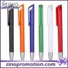 Longue agrafe annonçant le stylo de boule en plastique brillant de pointe de stylo de boule