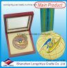 Rectángulo de madera de las medallas de las medallas de encargo de encargo del fabricante del fabricante