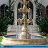 Fontaines en pierre normales de jardin de marbre jaune de coucher du soleil