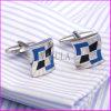 Cufflinks рубашки серебряного венчания способа квадратные для людей