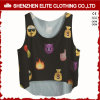 Donne di modo di alta qualità che coprono le magliette giro collo piene di stampa (ELTVI-38)