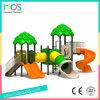 Terra esterna del gioco dei bambini di stile della giungla con la trasparenza del tubo