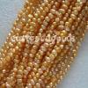 真珠(4mmのオレンジ淡水の真珠の緩いビード)