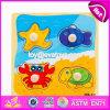 Novo Design Crianças correspondentes Toy Wooden Knob Puzzle W14m117