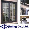 Ventana esmaltada doble de aluminio de la ventana de aluminio de la ventana de desplazamiento (JL1101)
