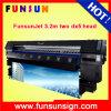 Imprimeur de sublimation d'impression de bannière de Funsunjet Fs-3202k, imprimeur en gros de base de l'eau de taille d'usine grand