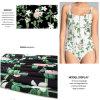 Высок-Протяните ткань Swimwear с печатью цветка цифров