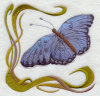 Butterfly001刺繍のバッジ(EMB138)
