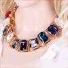 Ожерелье Jewrly нового Rhinestone способа золотистое квадратное