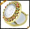 El espejo del reloj del Rhinestone, joyería del espejo, compone el espejo Pocket (MW003)