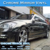 Negro Color de Chrome película del vinilo de la etiqueta engomada del coche del papel de embalaje