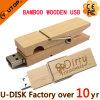 Soem hölzernes/Bambusclip USB-Blinken-Großhandelslaufwerk