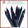 Stylo en bois de crayon de couleur de logo fait sur commande de promotion (MC016)