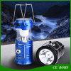 電気トーチの緊急時の懐中電燈が付いているFoldable太陽キャンプライト