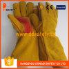 Желтые перчатки Dlw410 безопасности перчатки Welder Split кожи коровы усиленные