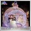 La grande sfera esterna di natale del LED illumina l'indicatore luminoso chiaro della decorazione del giardino di festa