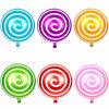 Balões de pirulito de forma de doces de brinquedo para crianças