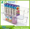 安く明確なプラスチック冷却装置及びフリーザー記憶のオルガナイザーの大箱