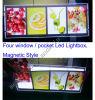 Doppio lato LED dei prodotti nuovi che fa pubblicità alla casella chiara (CDH03-A3L+A4Px2)