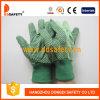 Многоточия хлопка холстины на перчатках безопасности сада ладони (DCD204)