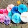 Fuentes coloridas del partido de las decoraciones del ventilador del papel de tejido