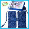Kamelie prägen Blumen-Stempel-Kippen-Mappen-Leder-Kasten für iPhone