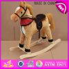 O cavalo de balanço de madeira encantador do contrapeso, cavalo de balanço de madeira popular, caçoou o brinquedo de madeira do cavalo de balanço, cavalo de balanço de madeira W16D070