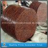 Polished 자연적인 G562 단풍나무 빨간 화강암 돌 둥근 식탁 상단