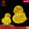 Lumière jaune approuvée de motif de l'obscurité 3D Chritmas de RoHS DEL de la CE pour la décoration extérieure de Noël