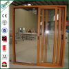 Projeto de vidro solidamente de madeira das portas do costume, a interior e a exterior da porta