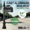 rectángulo postal de Mailboxs 64 de la caja clásica de la fundición de aluminio