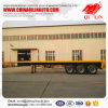2017 New Style 3 essieux Container Flatbed Semi-remorque utilitaire à vendre