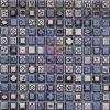 青いGlazed FlowerおよびCeramic (CST078)著Leaves Pattern Mosaic Tiles Made