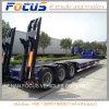 Remorque inférieure de chargeur de Lowboy de véhicules spéciaux pour le transport d'excavatrice