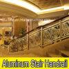 Balustrade de cuivre en aluminium d'escalier d'escalier d'entrée d'hôtel de luxe