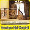 Balustre en aluminium d'intérieur d'escalier de balustrade en métal de luxe de conception