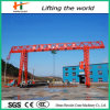 un Model Trussed Single Girder Gantry Crane con Electric Hoist