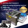 avec Counter Automatic Impress Solid Date Code Flatbed Printer Machine