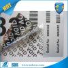 De zilveren Afgedrukte Stickers van het Serienummer Douane/de Stickers van het Bewijs van de Stamper