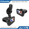 3 dans 1 détecteur de radar du véhicule DVR GPS de 1080P FHD Ambarella A7 avec l'enregistreur d'appareil-photo de version de nuit