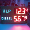 Le double a dégrossi 15  signe extérieur de prix du gaz de la couleur rouge DEL