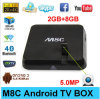 Fabriqué en Chine Camera M8c Android TV Box Amlogic S802 Quad Core Kodi Android 4.4 Kitkat