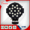 Diodo emissor de luz Work Light 51W Round de Black 7 do poder superior de