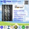 Дешевая покрышка тележки Bt556 295/75r22.5 радиальная для колес привода