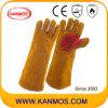 Промышленная безопасность Теплые спилка Сварочные работы перчатки (11116)