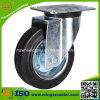 Industrielle schwarze Gummistahlrad-Fußrolle