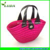 Sequins Pink Wheat Straw Tote Bag para Women
