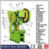 Punching Press Machinery J23-40t Punching Machine Famous Brand Small-Scale C-Type Punching Press Machine