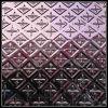 placa de acero inoxidable acuciante estereoscópica de la decoración revestida del color 3D (A107)